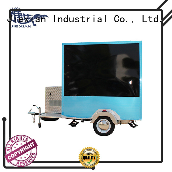 Good materials custom concession trailers with square roof for bbq selling