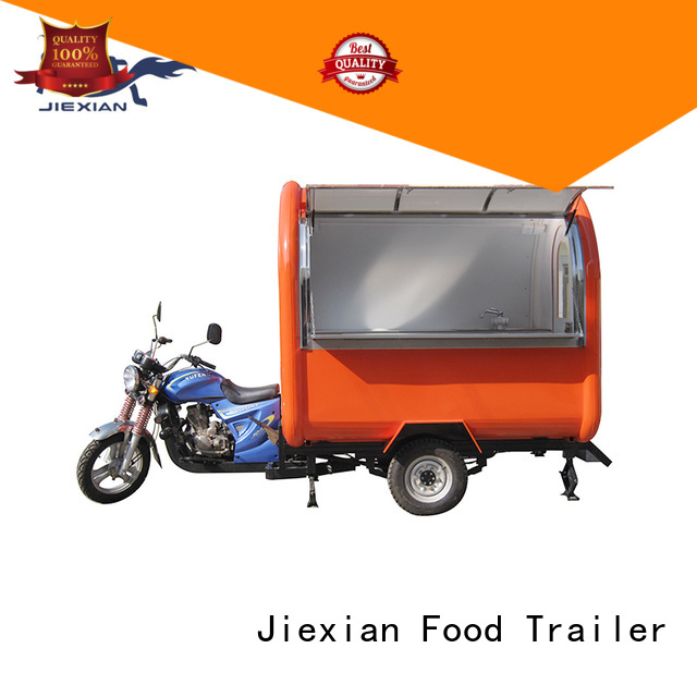 Jiexian motorcycle food cart inquire now for mobile business