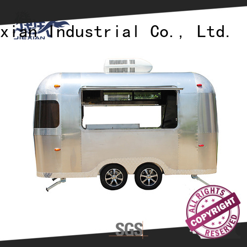 Jiexian Airstream type pizza truck with good price for selling snake