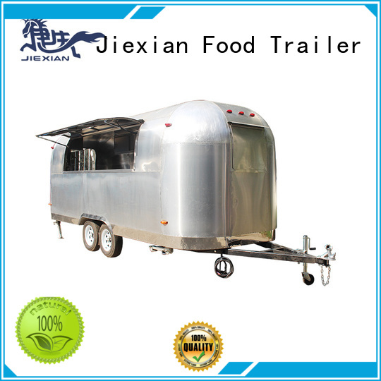 Jiexian pizza trailer factory for selling pizza