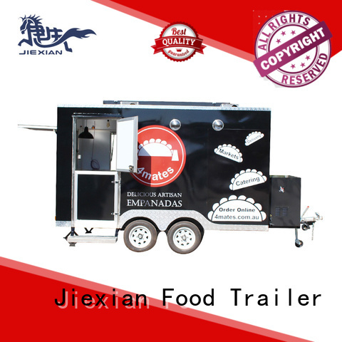 fast food truck China manufacturer for barbecue selling