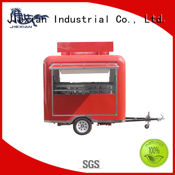 outdoor mobile bbq concession trailer customization for BBQ trademan