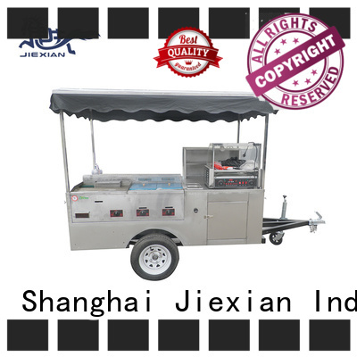 Jiexian nostalgia hot dog cart factory price for selling hot dog