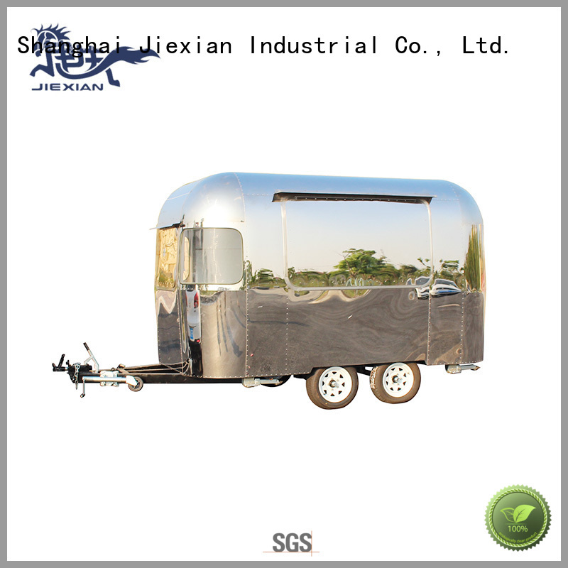 Jiexian stainless steel pizza cart factory for selling pizza