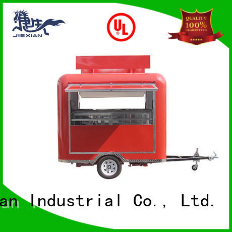 Jiexian mobile bbq concession trailer customization for fast food selling