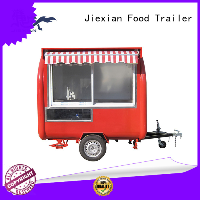 Jiexian 160cm custom concession trailers factory price for food selling