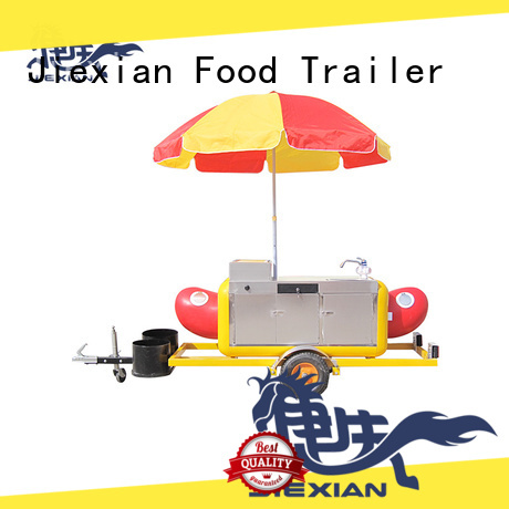 Jiexian new york hot dog cart wholesale for selling snack