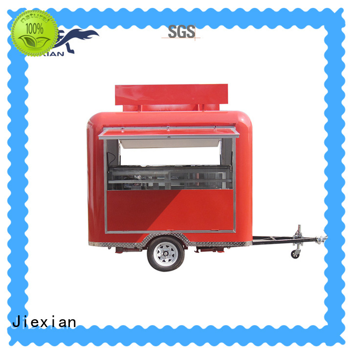 outdoor bbq concession trailer with smoker with round roof for fast food selling