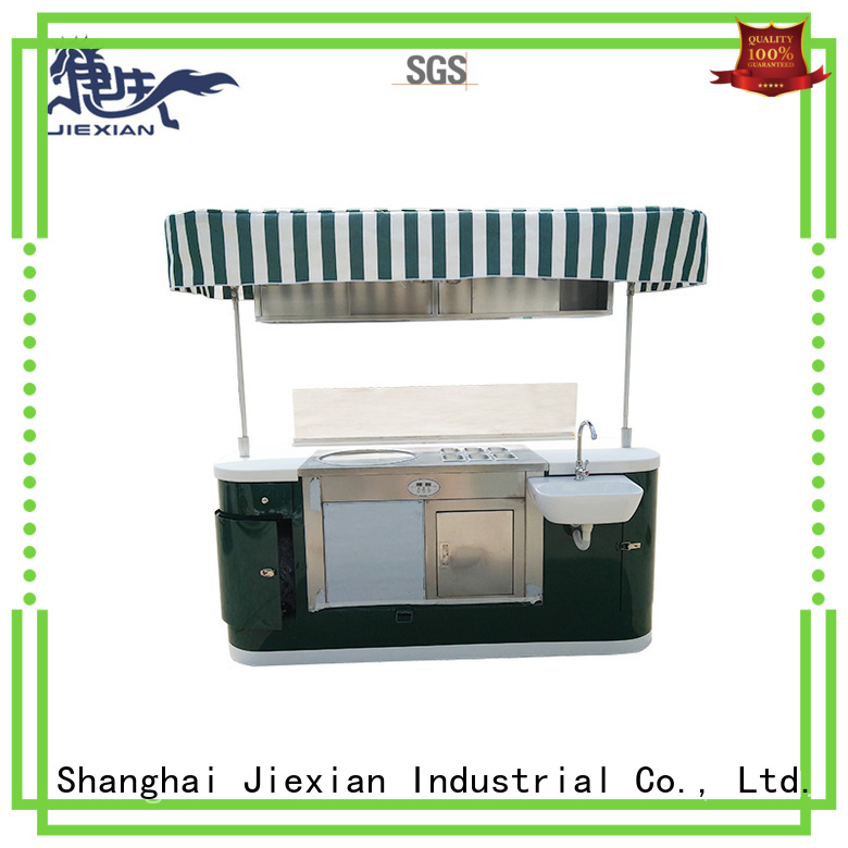 Jiexian coffee trailer from China for selling fast food