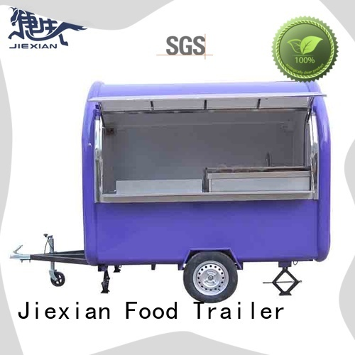 Jiexian odm mobile concession trailer nice design for mobile food selling