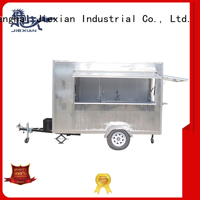 Jiexian stainless steel pizza trailer inquire now for selling snake