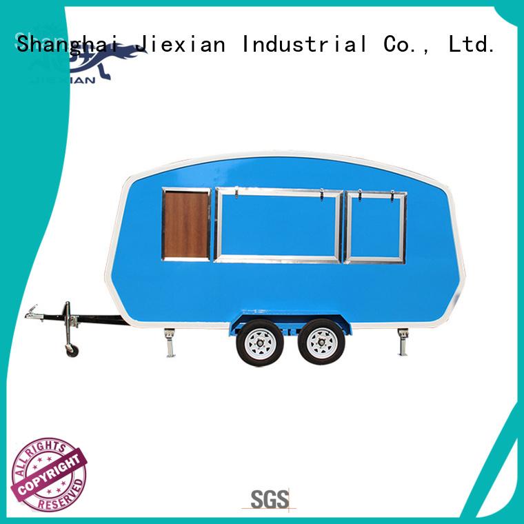 Jiexian new model burger truck manufacturer for selling hamburger