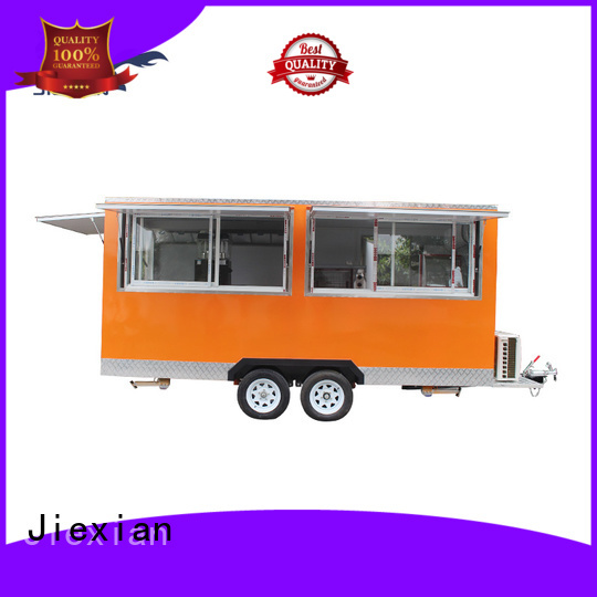 outside mobile bbq trailer China manufacturer for barbecue selling