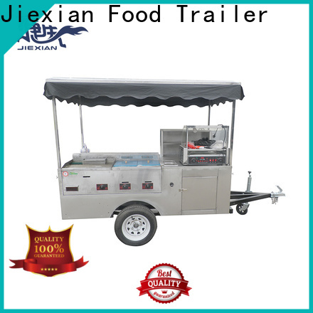 Jiexian trailer hot dog factory price for selling fast food