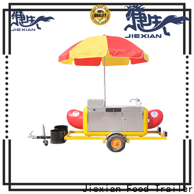 convenient hot dog trailer personalized for selling snack