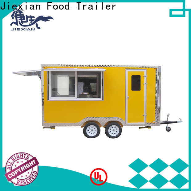 Jiexian mobile bbq trailer China manufacturer for barbecue selling