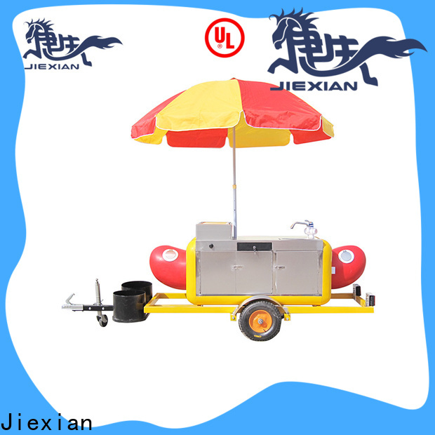 Jiexian small size hot dog cart business factory price for selling snack