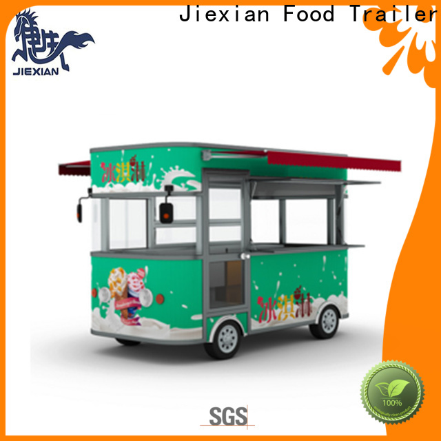 Jiexian nice design ice cream push cart manufacturer for selling fast food