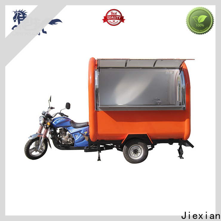 Jiexian good appearance motorcycle food truck with good price