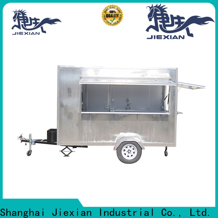 Jiexian stainless steel pizza truck catering factory for selling snake