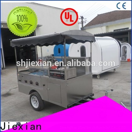 Jiexian mobile hot dog cart supplier for selling fast food