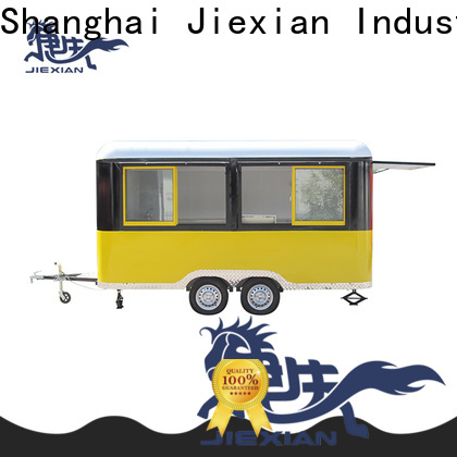 Jiexian bbq barbecue trailer with round roof for fast food selling