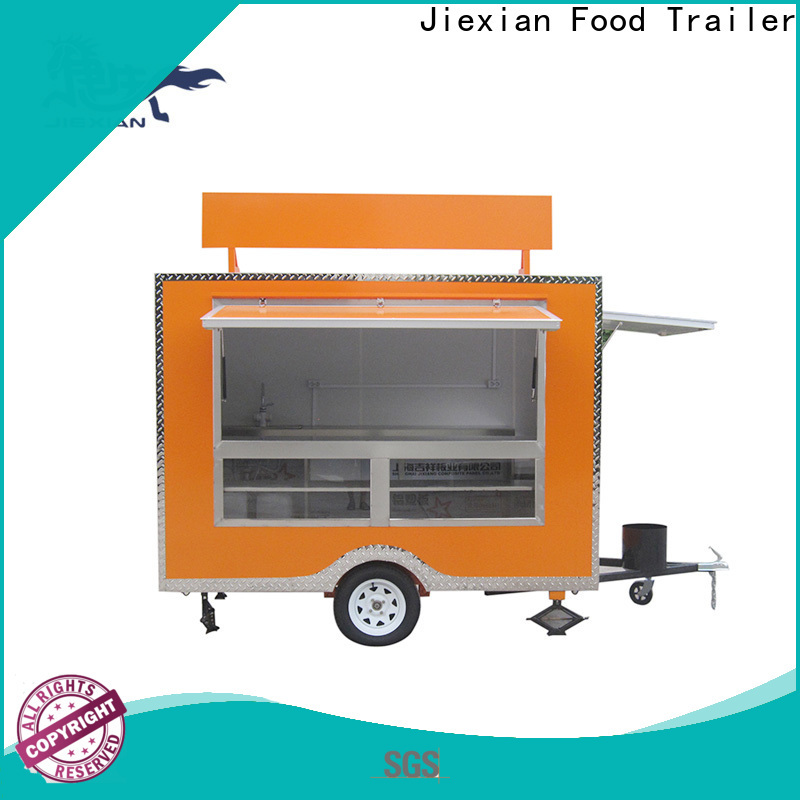 Jiexian popular custom food trailers China manufacturer for barbecue selling
