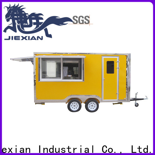 Jiexian custom food trailers for bbq selling
