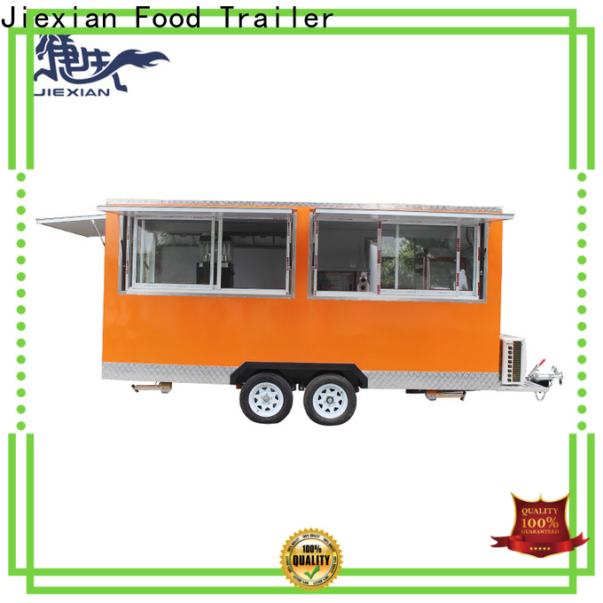 bbq concession trailer with square roof for barbecue selling