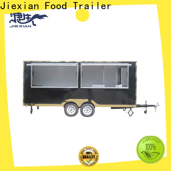 Jiexian competition bbq trailer with square roof for bbq selling
