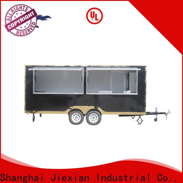 popular bbq food trailer China manufacturer for mobile business