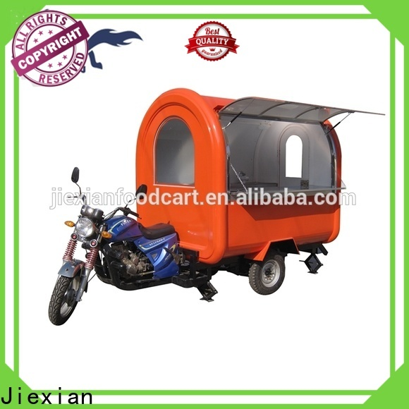 Jiexian Custom food trucks and trailers for sale manufacturers for outdoor food selling