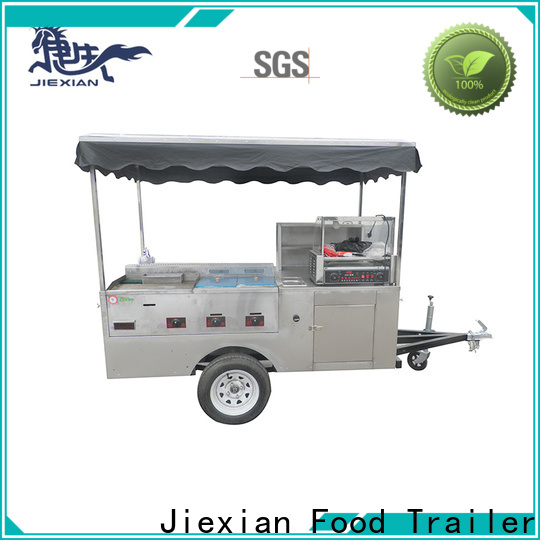 hot dog cart with grill and fryer
