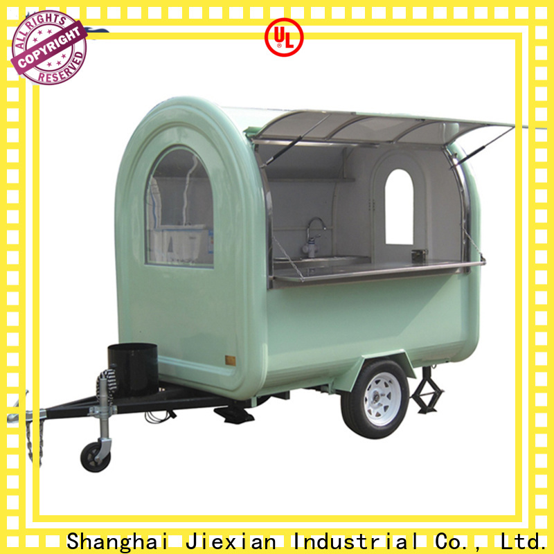 Jiexian New mobile kitchen trailer manufacturer factory for food business