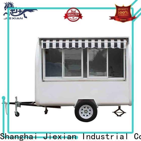 wooden food trailer