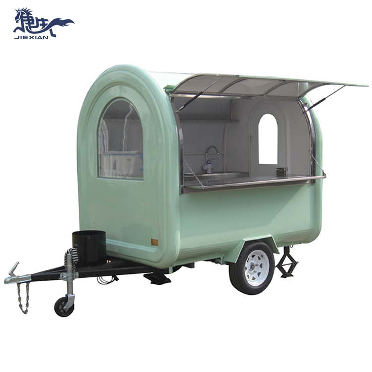 JX-FR220B China food cart churros food trailer fast food truck mobile kitchen camper van trailer