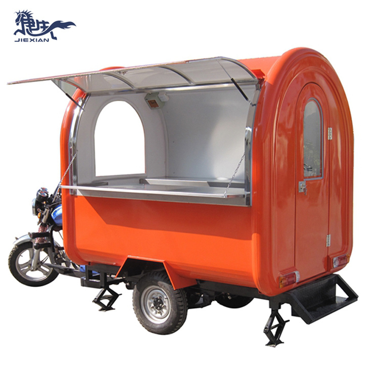 JX-FR220i Nice scooter food cart outdoor mobile motorcycle food cart