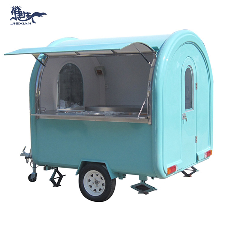 JX-FR220W Small Popcorn Vending Food Trailer Catering Food Truck Trolley Cart