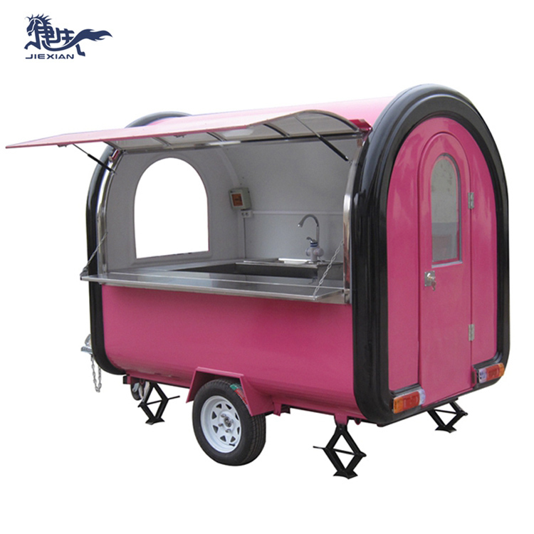 JX-FR250B Mobile food cart with gas tank / ice cream trucks mobile tuk food cart trailer