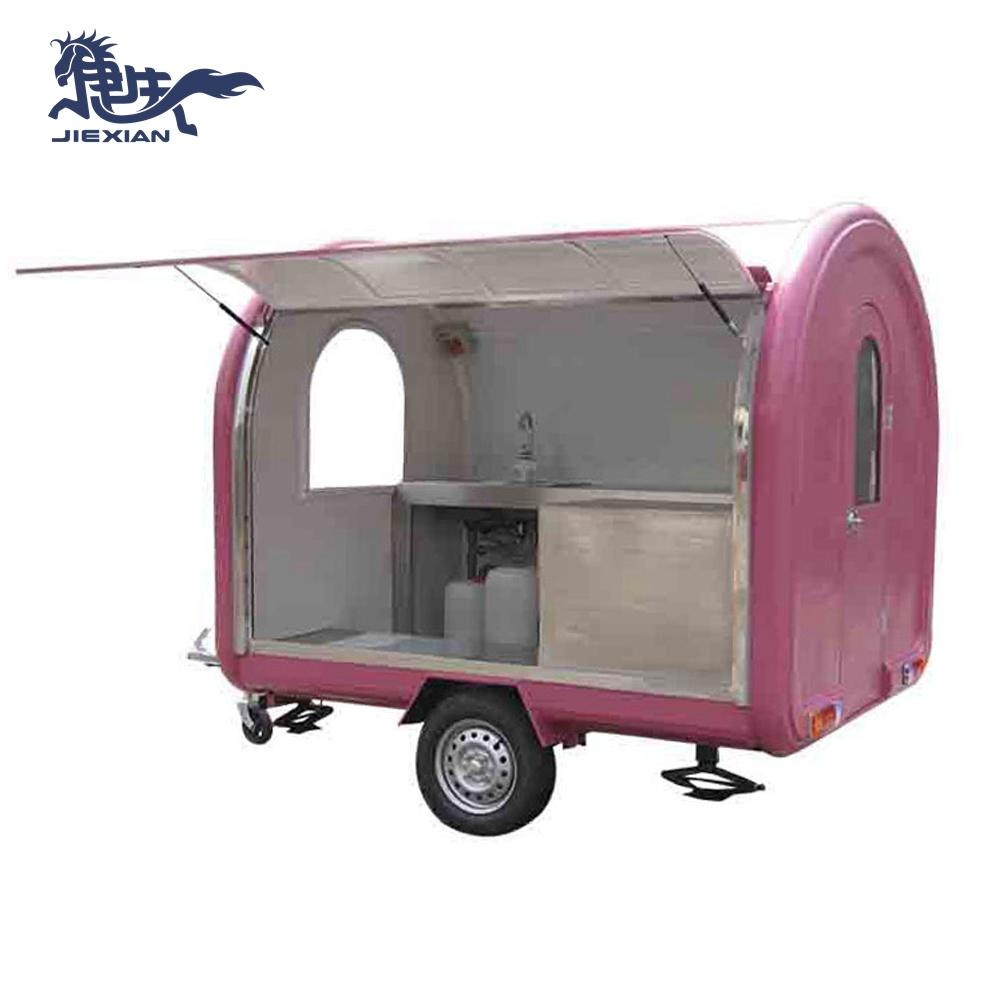 Cheap caravan van kiosk italian ice cream stick display cabinet cart