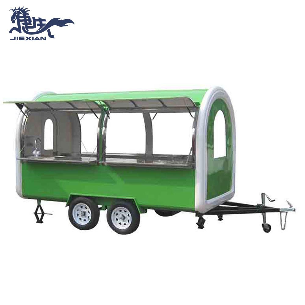 JX-FR350W Wholesale Price food trucks mobile food trailer crepe mobile solar trailer