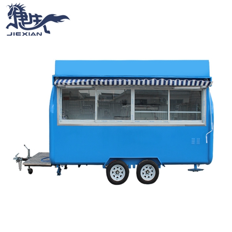 JX-FR400WH Hot sale mobile food concession trailer/food truck for sale