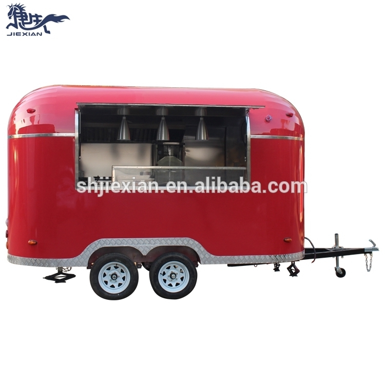 JX-BT400G Fast food truck mobile kitchen catering trailer for coffee ice cream hamburger