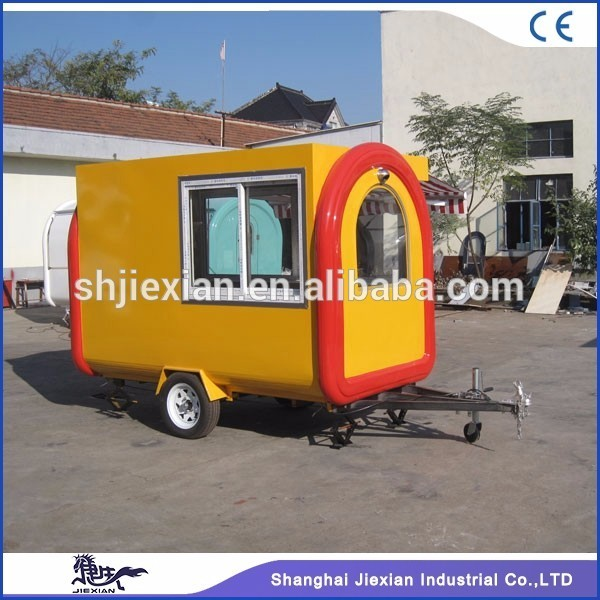 JX-FR280H Mobile new design cotton candy food trailer US standard