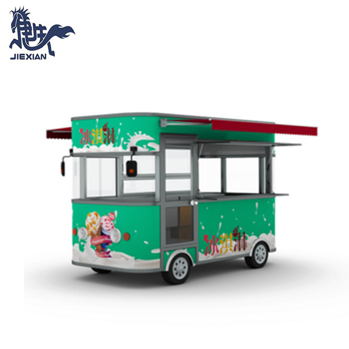 JX-FS300 Outdoor electric ice cream food caravan coffee van for sale