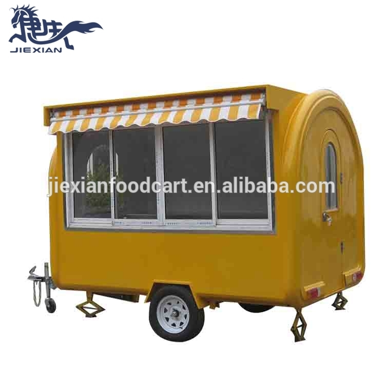 JX-FR280WH Shanghai Jiexian foodtruck coffee trailer design ice cream trucks