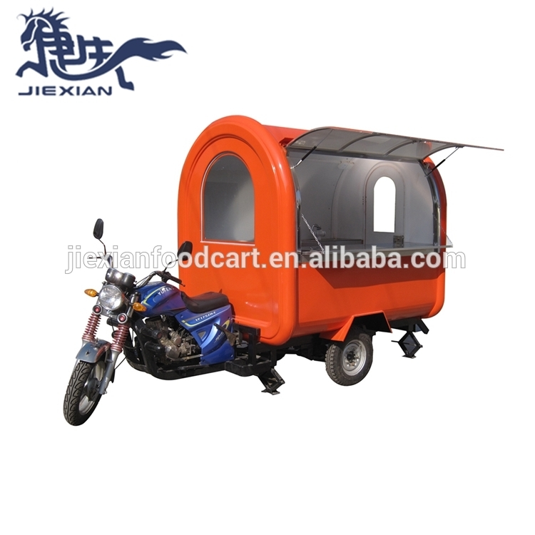 JX-FR220I Shanghai Jiexian Hot dog food cart/ Retro Coffee bike /street mobile coffee trike shop