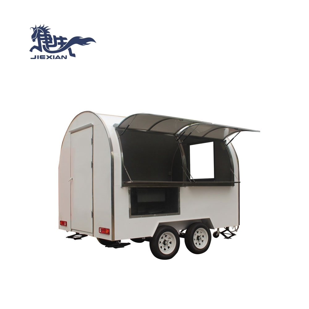 JX-FR280W Outdoor Mobile Kitchen Solar Food Trailer Showcase Cart Mall Kiosk for Food