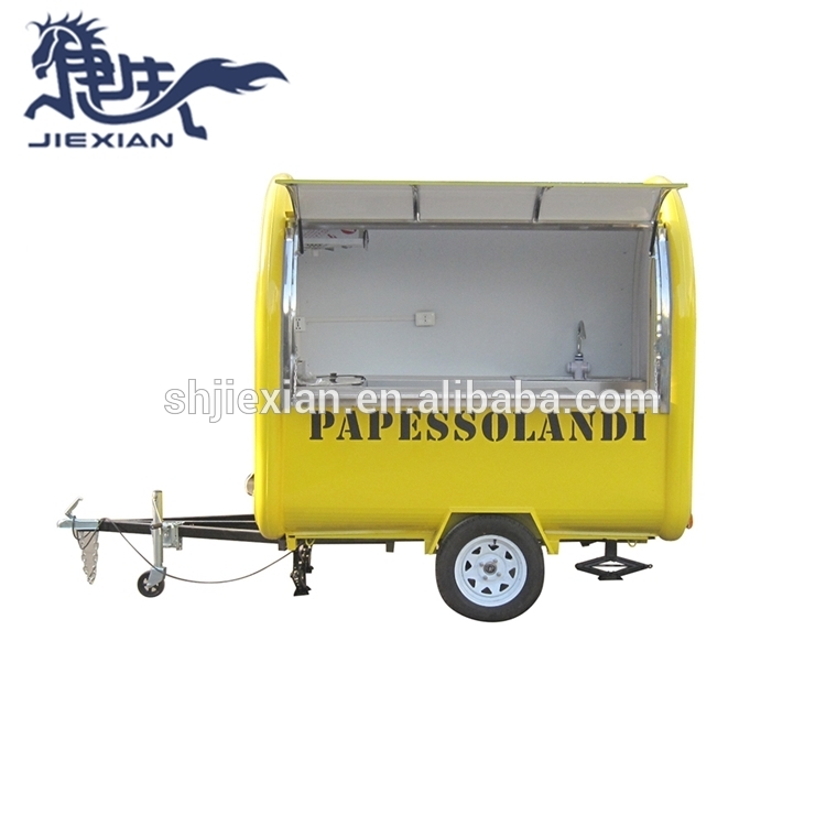 Mobile kiosk fast food trailer